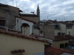 The view from our room in Florence