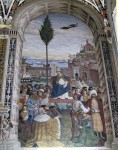 Fresco panel on the walls of the library