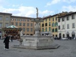 The water fountain on the Piazza