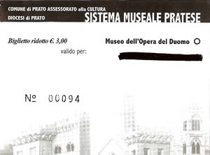 Ticket for the Duomo Museum and the crypt under the Duomo