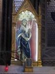 A Madonna statue