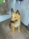 A ceramic dog