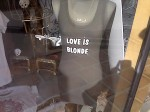 Love Is Blonde tee shirt