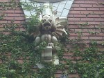 A gryphon from the facade of a house on Lookout Moutain