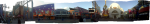 A panorama of the CityWalk from where I walked in by parking