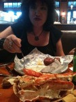 Aviva put away those crab legs!