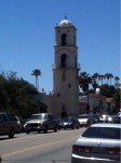 The main bell tower from the street