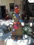A neat statue outside Vesta Restaurant