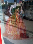 A dress in a window in Studio City