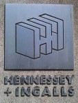 Hennessey + Ingalls wall sign