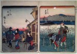 Two prints by Hiroshige