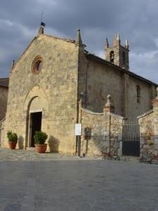 The church in Monteriggioni