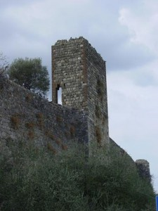 One of the towers of Monteriggioni