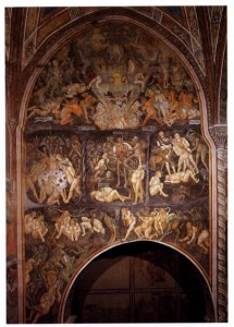 The Tortures of Hell from a fresco inside the Collegiata