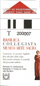 The ticket for the Collegiata (front)