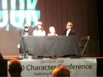 "Part of the cast from ""Look"" took part in a panel"