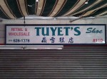 Tuyets Shoes sign