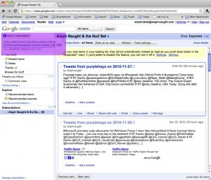 Adding a subscription manually to Google Reader