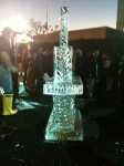 Side view of the ice sculpture