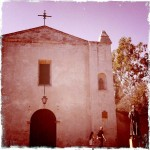 Mission San Gabriel facade (Hipstamatic)