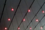 Cool ceiling lights in the cafe at LACMA