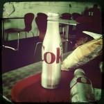 "Strange metal Diet Coke ""bottle"" at the LACMA cafe"