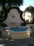 Main fountain in the interior garden