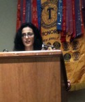Toastmasters District One President Giovanna E. Dottore at the TLI