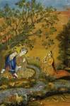 Lovers in a Landscape, Mir Kalan Khan, c. 1760-70