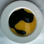 Oil and basalmic vinegar for bread at Mi Piace