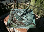The original sun dial from the first Mission