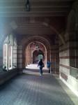 The outdoor hallway at Royce Hall