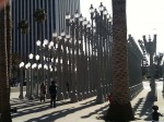 The outdoor street light exhibit at LACMA