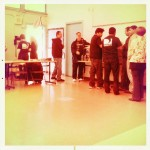 A Hipstamatic image of the lunch line