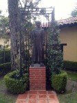 Statue of the founder of the Mission, Father Fermín Lasuén