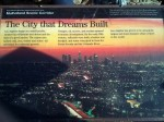 """""""The City That Dreams Built"""" - Info sign at the Hollywood Bowl overlook"""