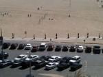 A row of Segues heading along Santa Monica Beach
