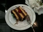 Aviva and I split a 7 layer cake at a local deli