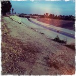 Hipstamtic shot of the 'scenic' Los Angeles River from the park