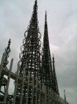 The soaring spires of the Watts Towers