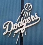The logo of the Los Angeles Dodgers