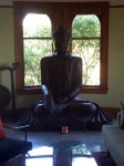 A large Buddha dominated one living room
