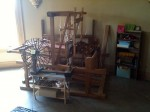 There was a working loom in one of the apartments