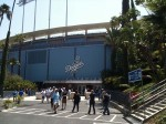 The entrance to Dodgers Stadium