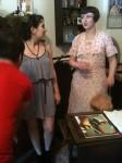 Two women in period dress