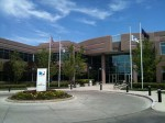 The main entrance of the DIRECTV call center in Boise