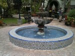 A beautiful tiled fountain