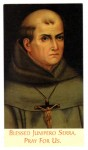 Card for Blessed Junipero Serra, founder of the first California mission