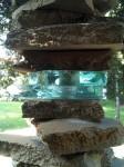 Detail of a column of rocks