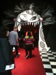The entrance to the Tim Burton show